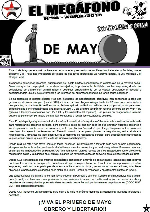 megafono mayo
